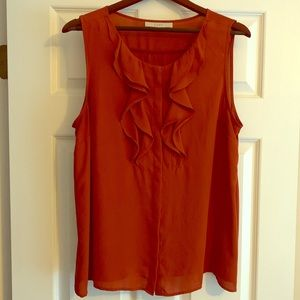 Burnt orange Blouse from LOFT